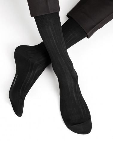 Geribbelde sokken 100% gemerceriseerd katoen